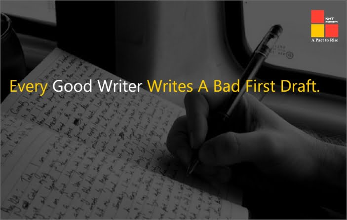 every good writer writes a bad first draft